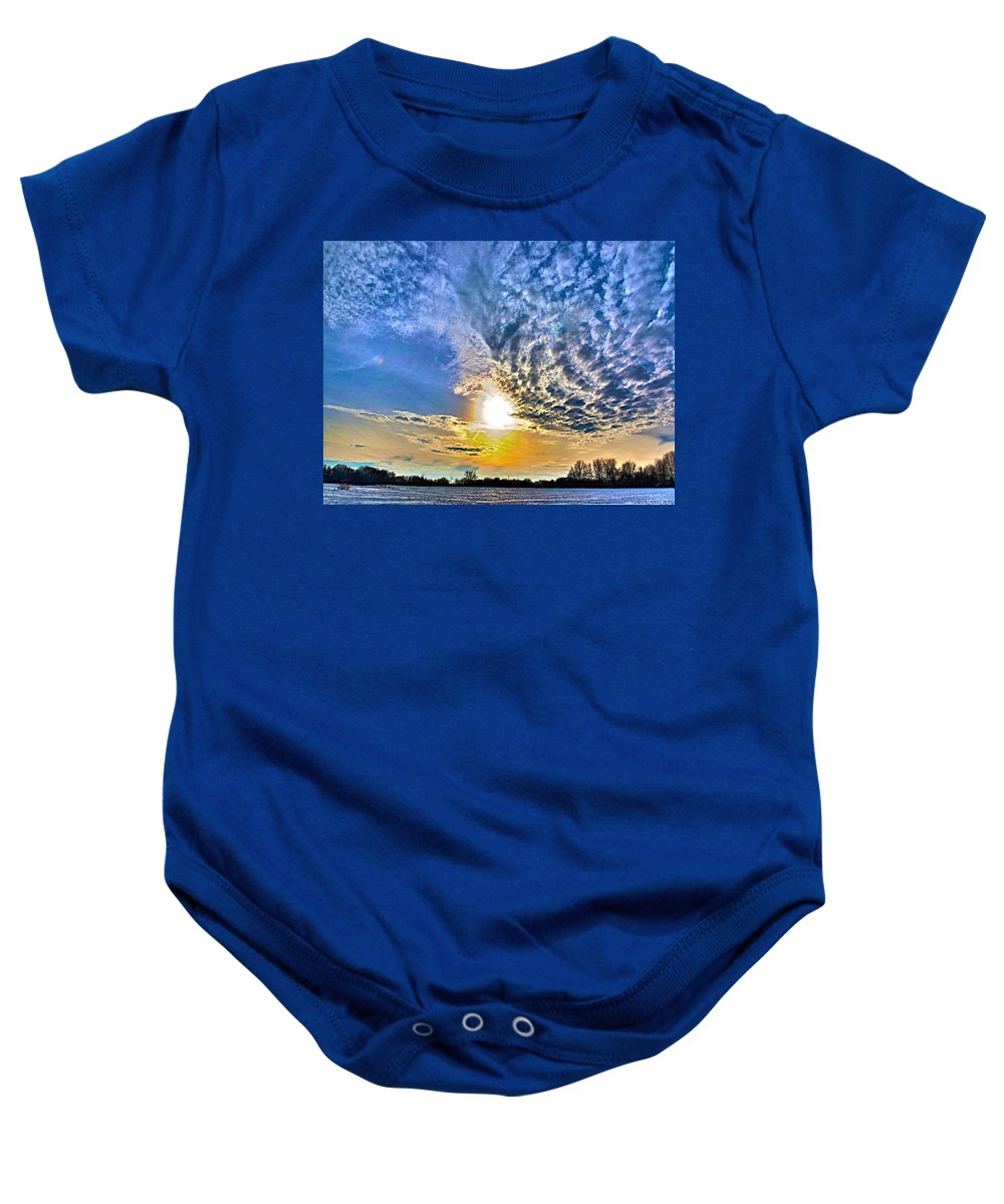 Related Tags: Hdr Artwork Baby Onesie featuring the photograph The End Of The Day by Robert Pearson