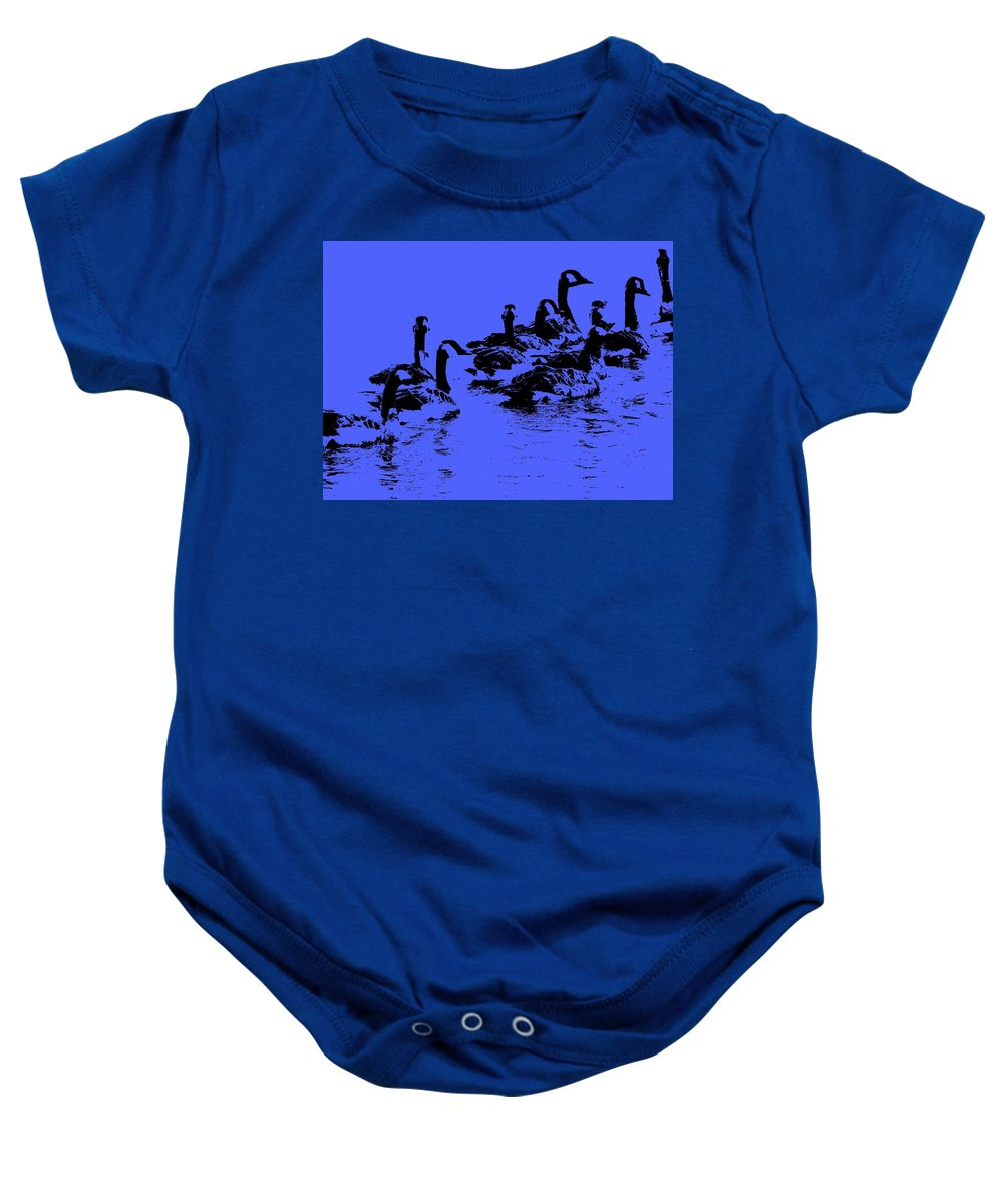 Birds Baby Onesie featuring the photograph The Look Out by Ed Smith