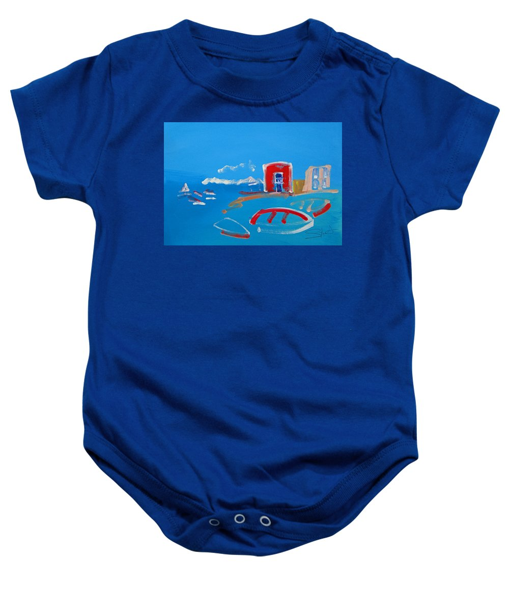 Puerto Baby Onesie featuring the painting The Red House La Casa Roja by Charles Stuart