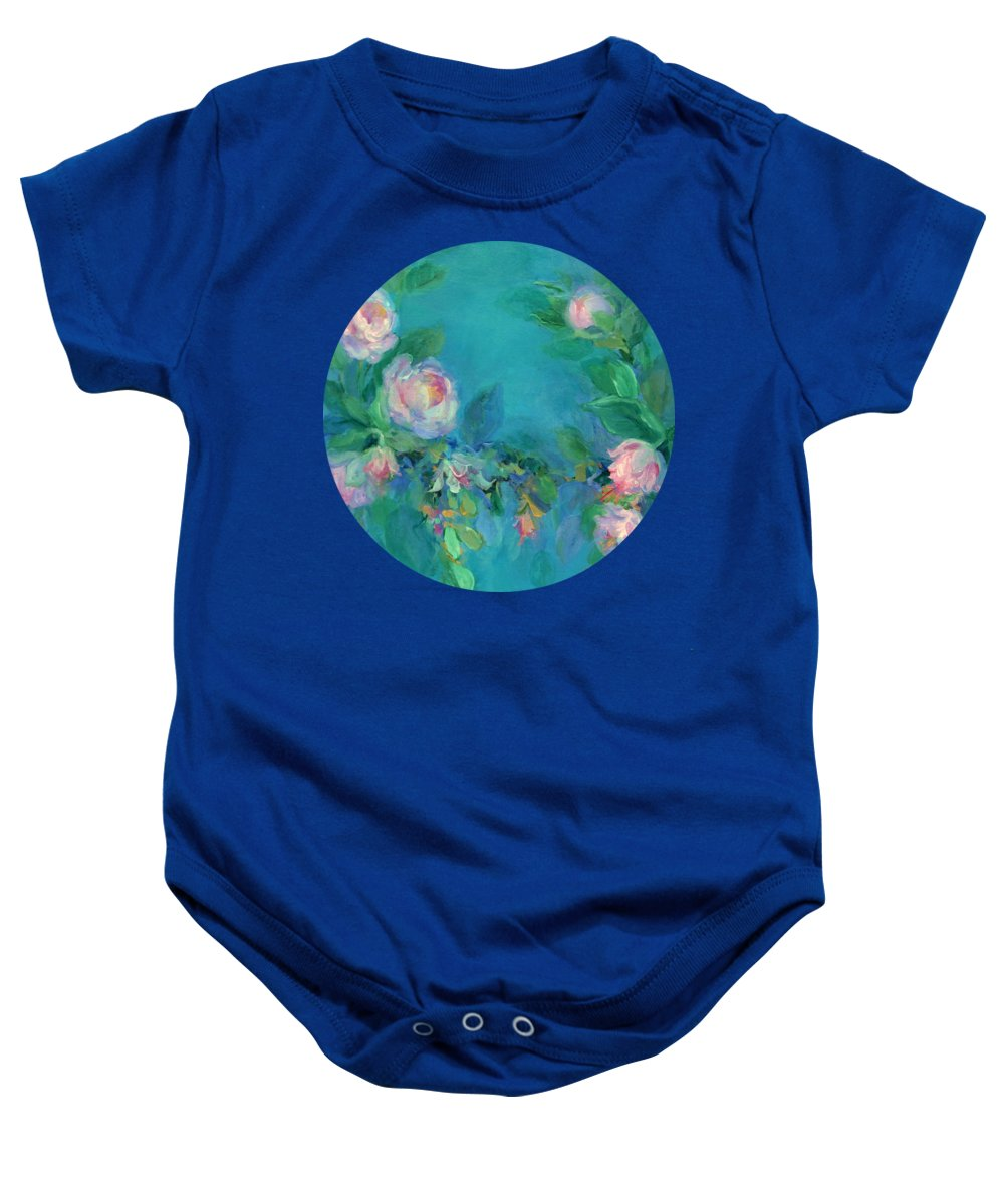 Impressionism Baby Onesie featuring the painting The Search For Beauty by Mary Wolf