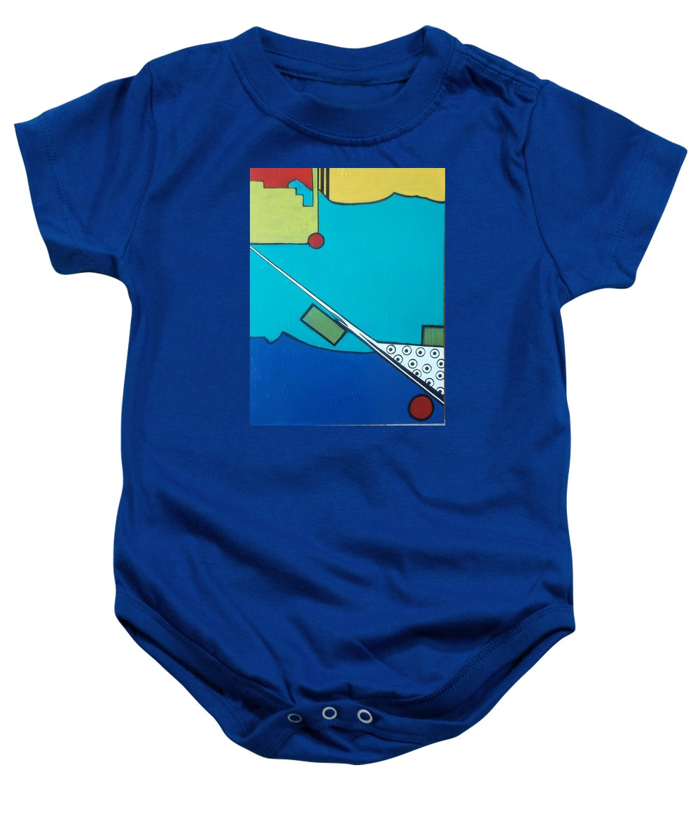 Abstract Baby Onesie featuring the painting This Way by Patricia Voelz