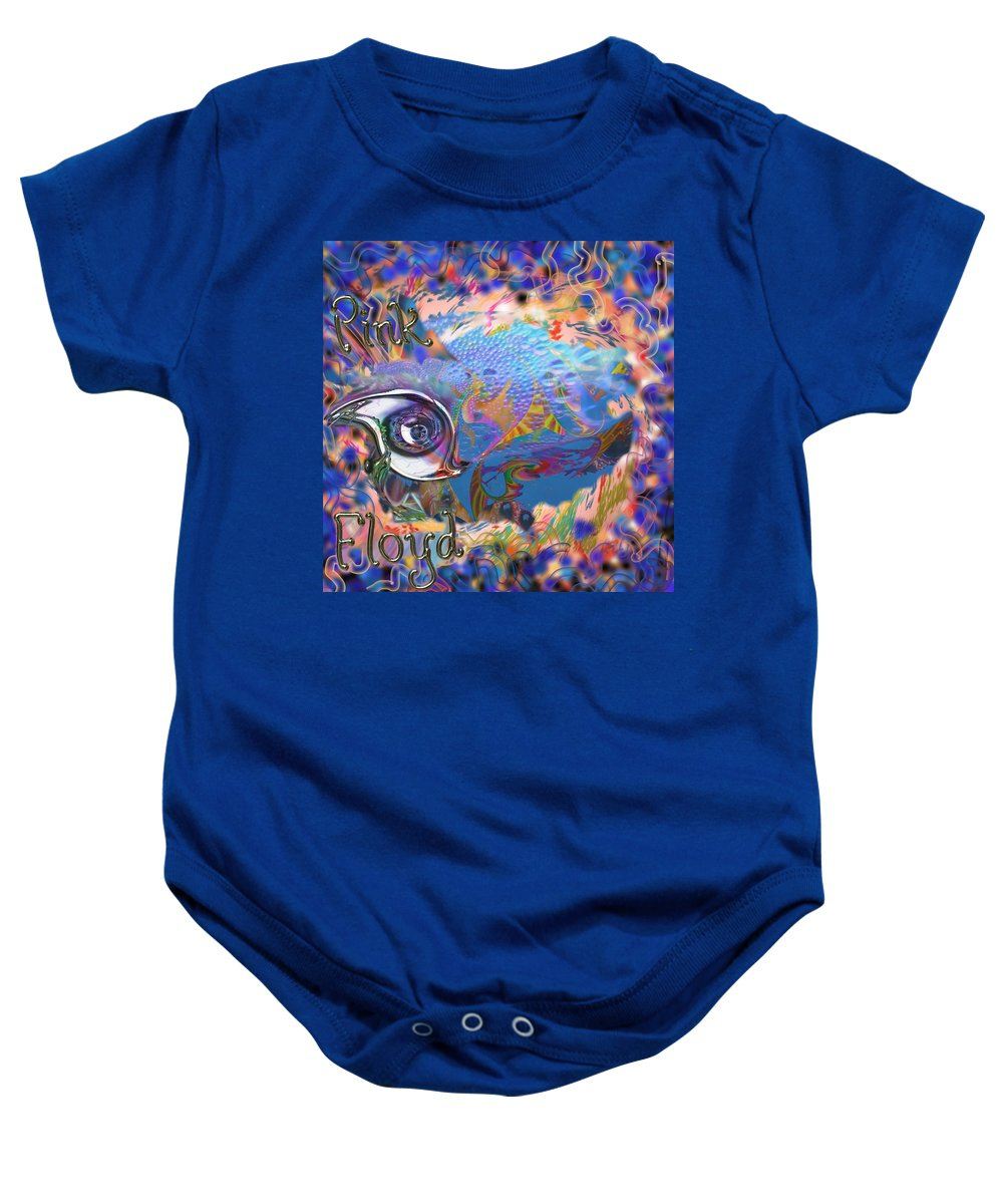 Pink Floyd Baby Onesie featuring the mixed media Time To Rock by Kevin Caudill