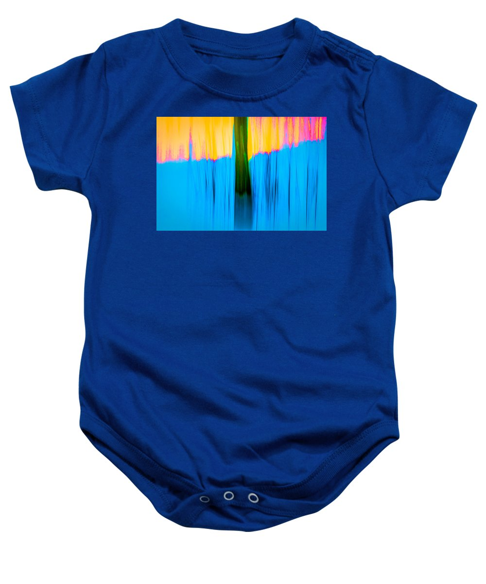 Abstract Baby Onesie featuring the photograph Tree Abstract by Onyonet Photo Studios