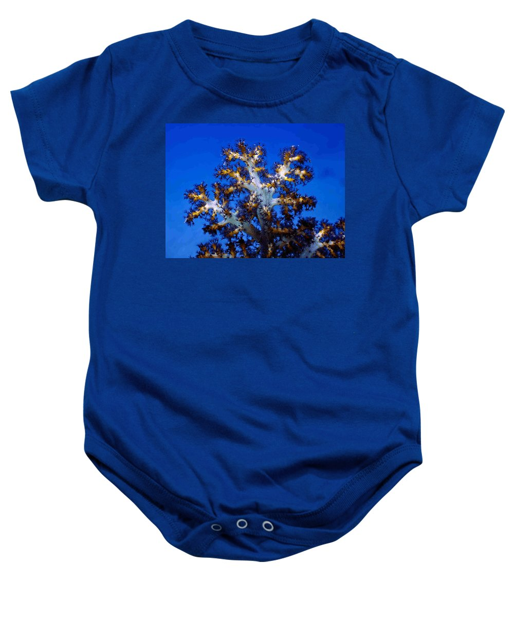 Coral Baby Onesie featuring the photograph Tree Coral by Dragica Micki Fortuna