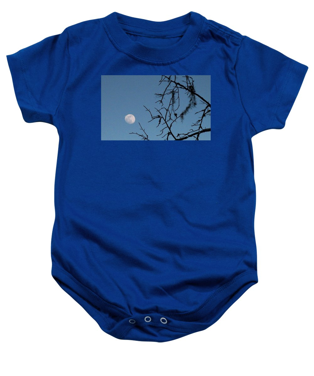 Moon Baby Onesie featuring the photograph Trompe L Oeil Moon by J M Farris Photography