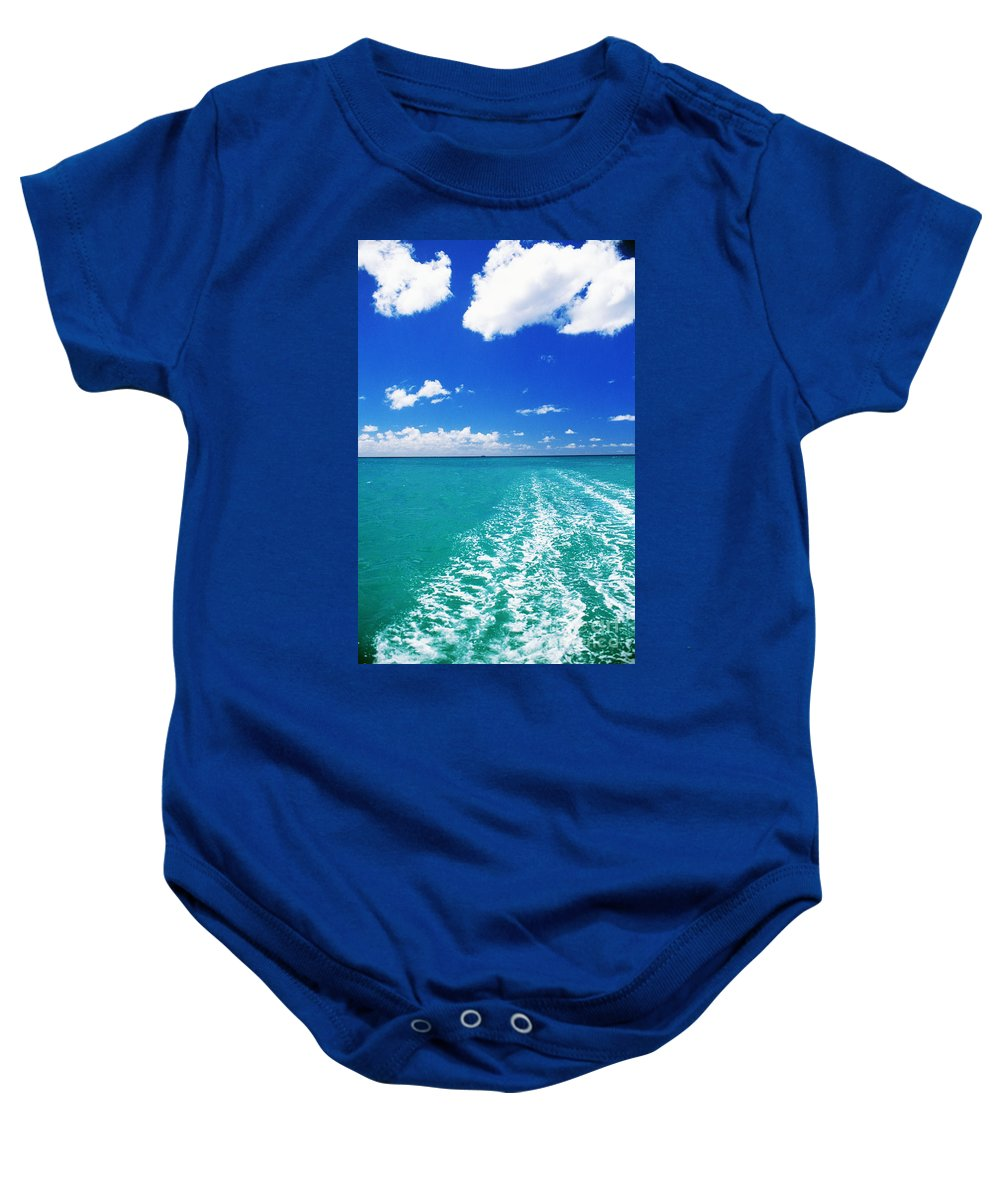 Beautiful Baby Onesie featuring the photograph Turquoise Ocean by Dana Edmunds - Printscapes