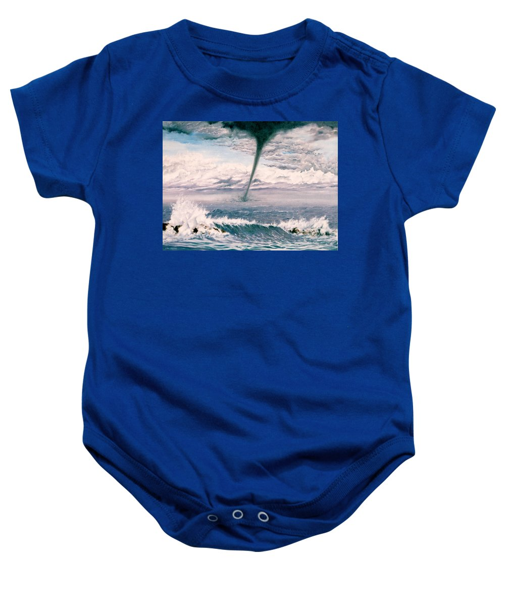 Seascape Baby Onesie featuring the painting Twisted Nature by Mark Cawood