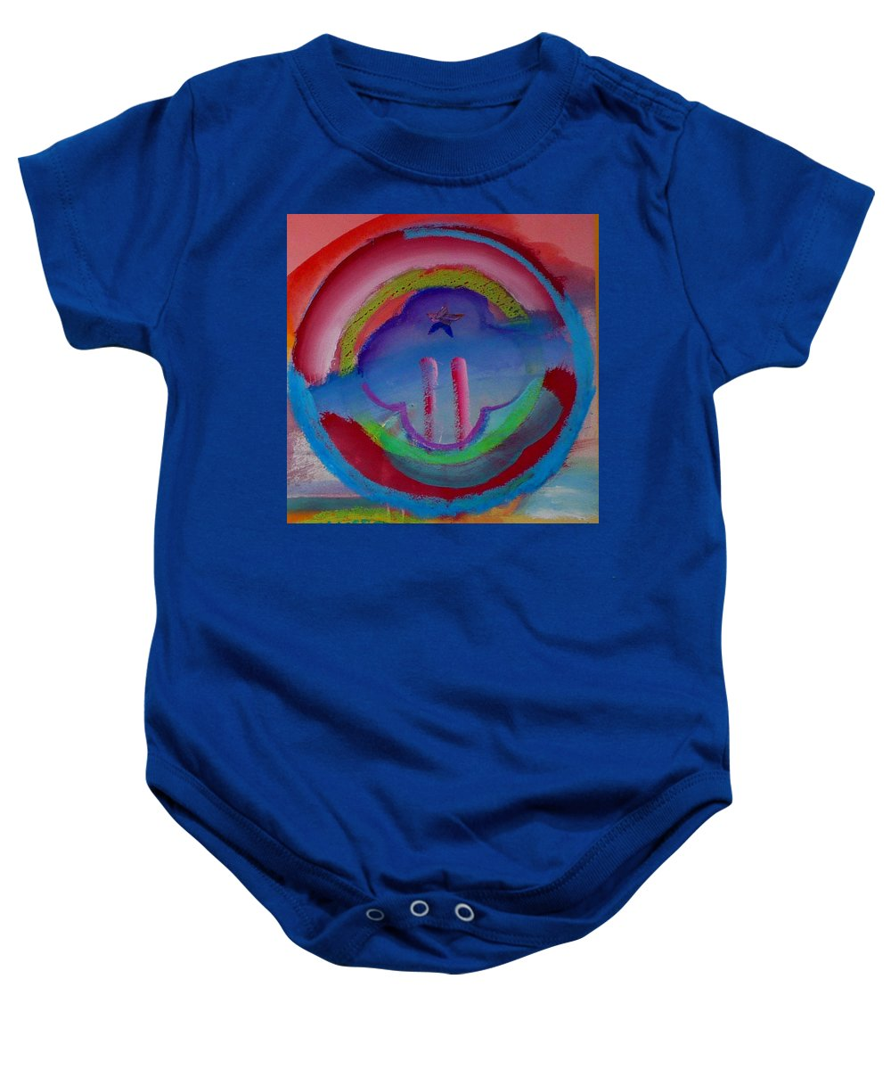 Logo Baby Onesie featuring the painting two by Charles Stuart