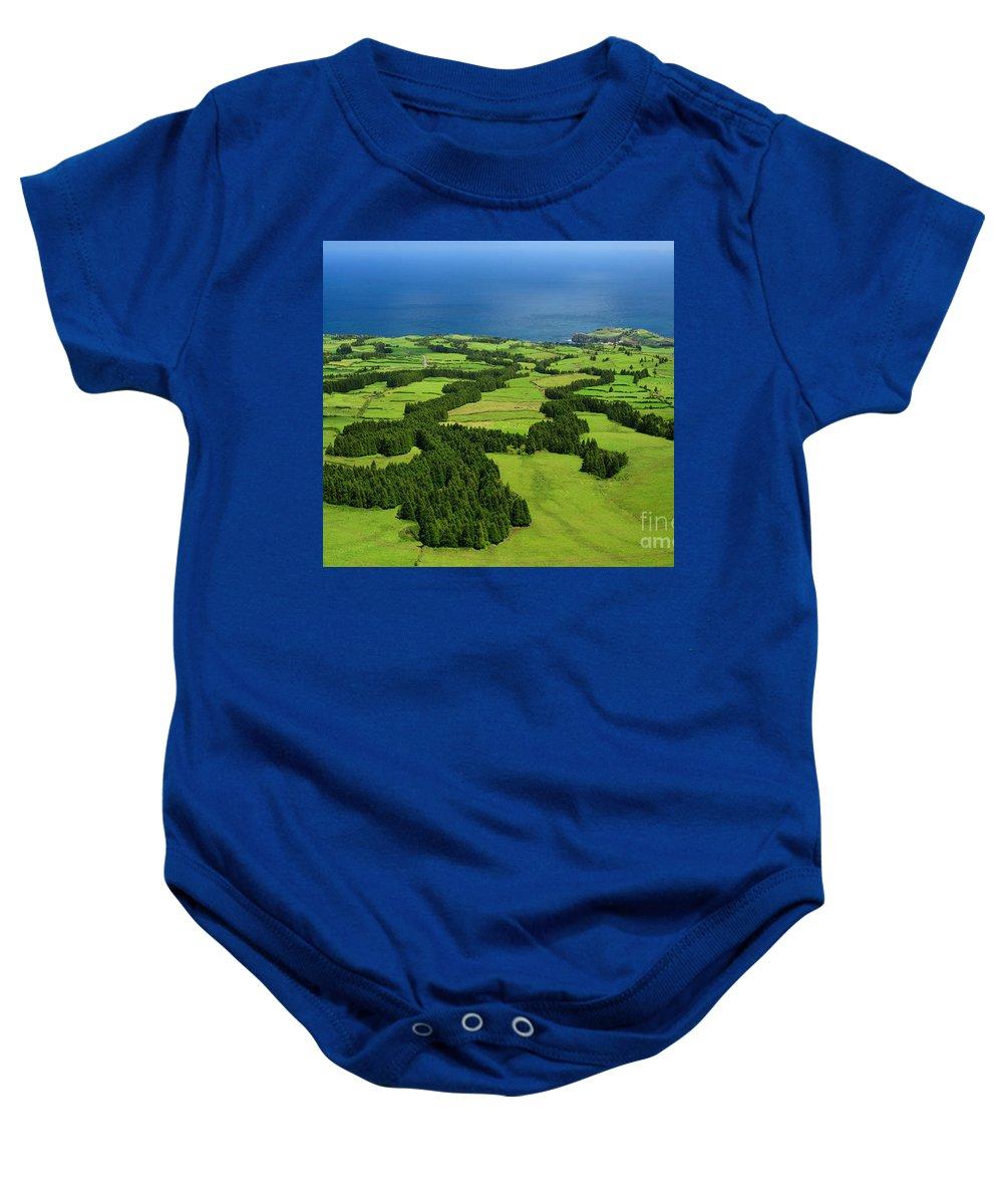 Landscape Baby Onesie featuring the photograph Typical Azores Islands Landscape by Gaspar Avila