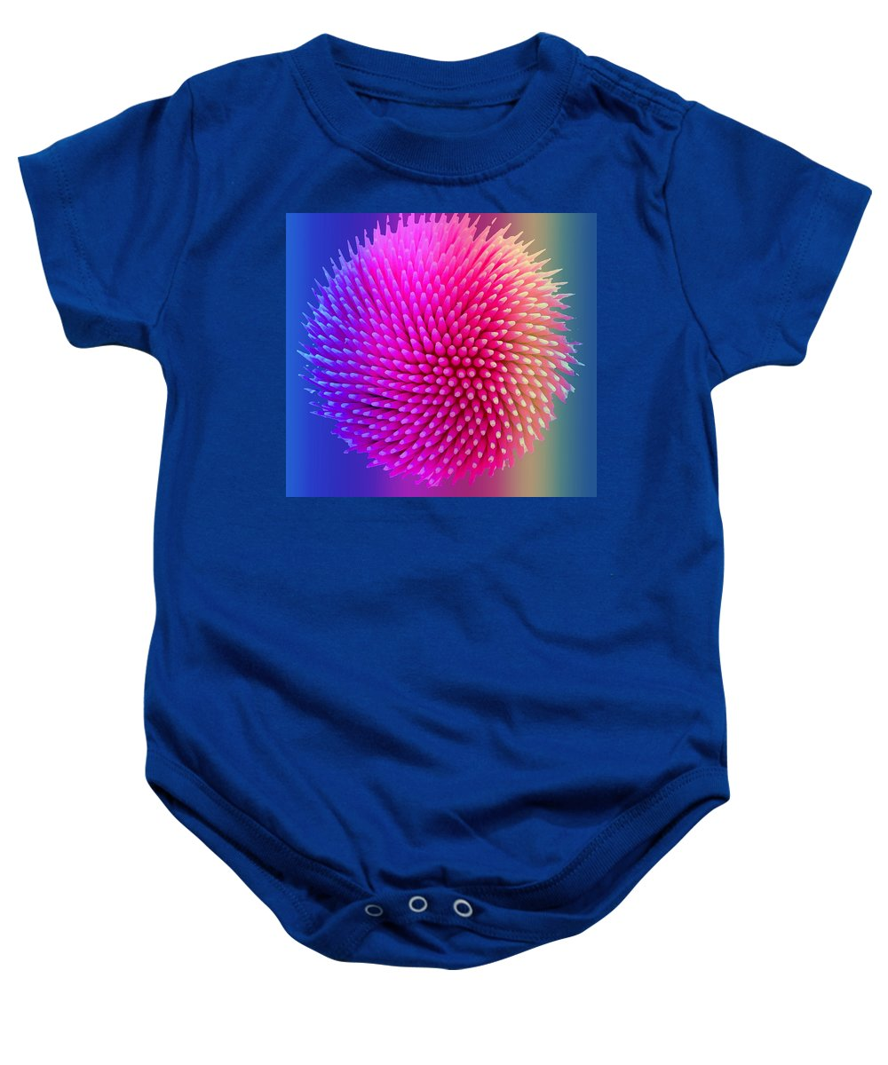 Toothpicks Baby Onesie featuring the photograph Uniform Pattern by Ian MacDonald