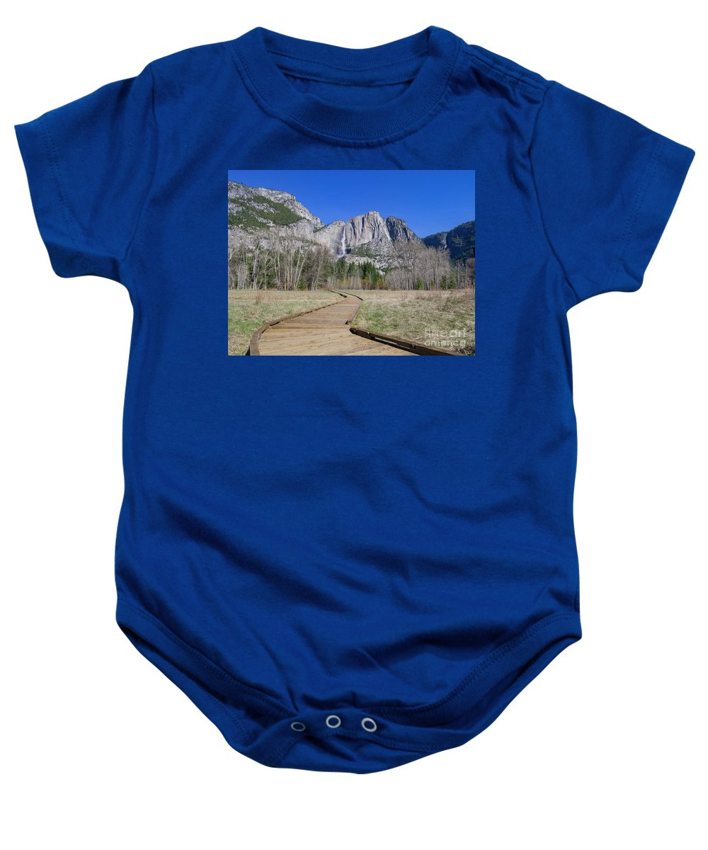 Nps Baby Onesie featuring the photograph Upper Yosemite Fall And The Trail by Chon Kit Leong