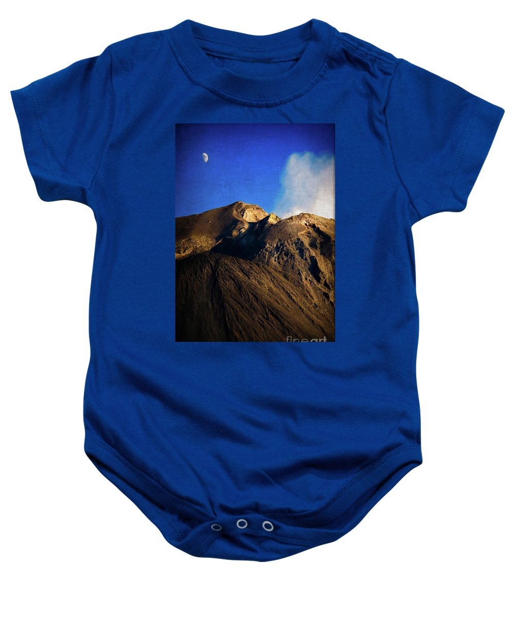 Vernazza Baby Onesie featuring the photograph Vernazza On Fire by Doug Sturgess