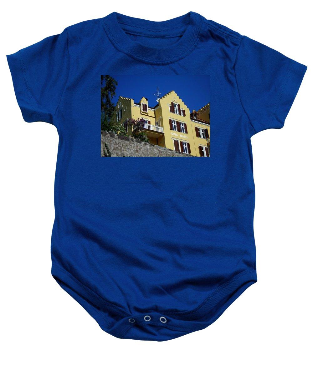 Villa Baby Onesie featuring the photograph Villa Weiss by Juergen Weiss