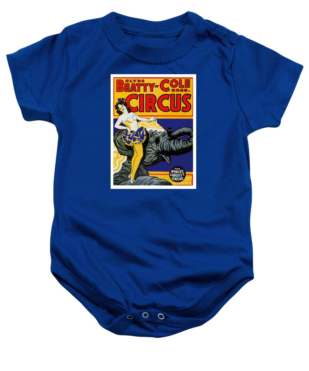 Circus Baby Onesie featuring the painting Vintage Circus Rider by Mindy Sommers
