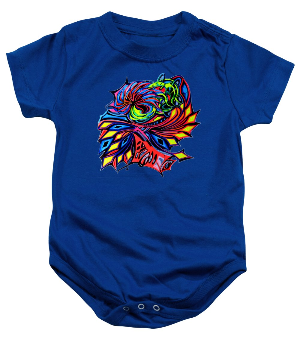 Art Baby Onesie featuring the painting Virtual  by The Door Project
