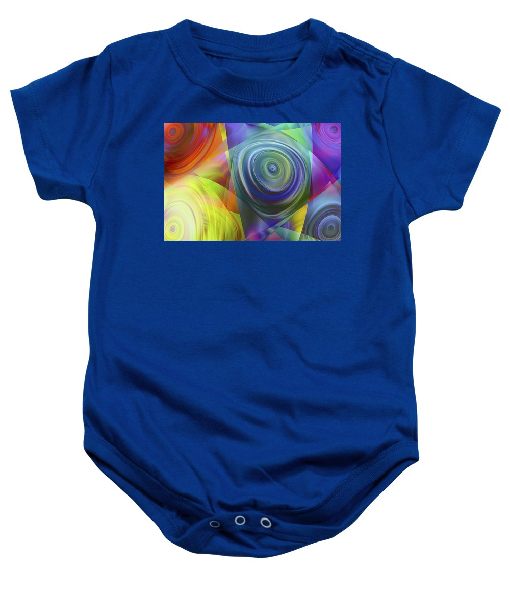 Colors Baby Onesie featuring the digital art Vision 39 by Jacques Raffin