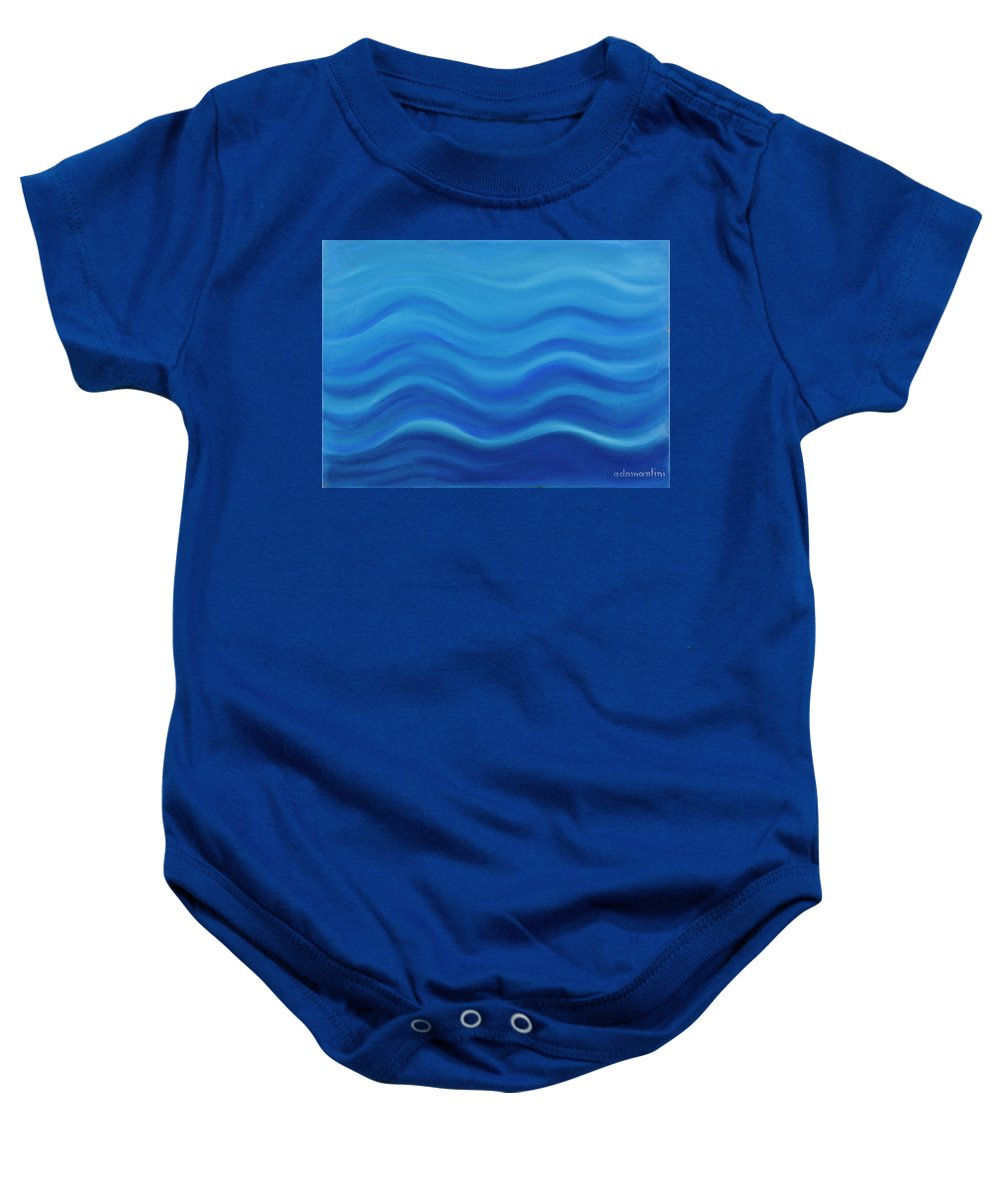 Water Baby Onesie featuring the painting Water by Adamantini Feng shui
