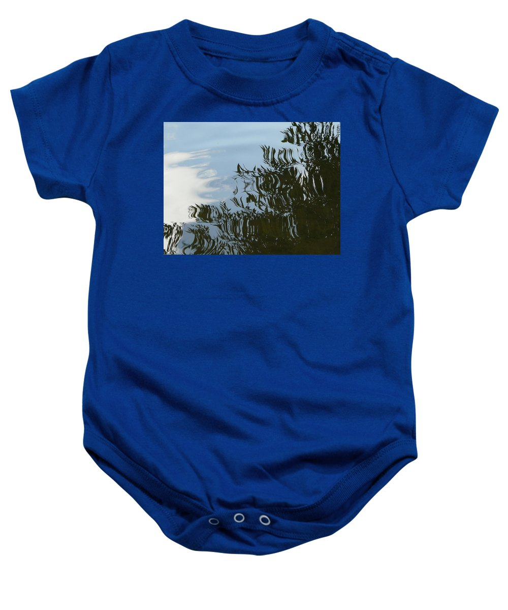 Tree Baby Onesie featuring the photograph Weeping Willow Reflection by Valerie Ornstein