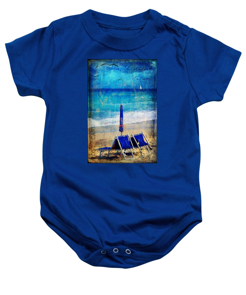 Beach Baby Onesie featuring the photograph White Sail by Silvia Ganora