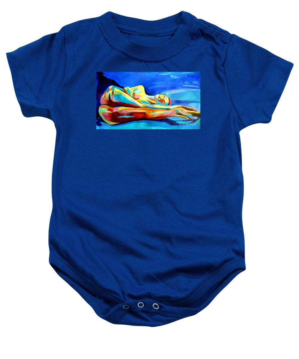 Affordable Paintings For Sale Baby Onesie featuring the painting Womanly Figure by Helena Wierzbicki