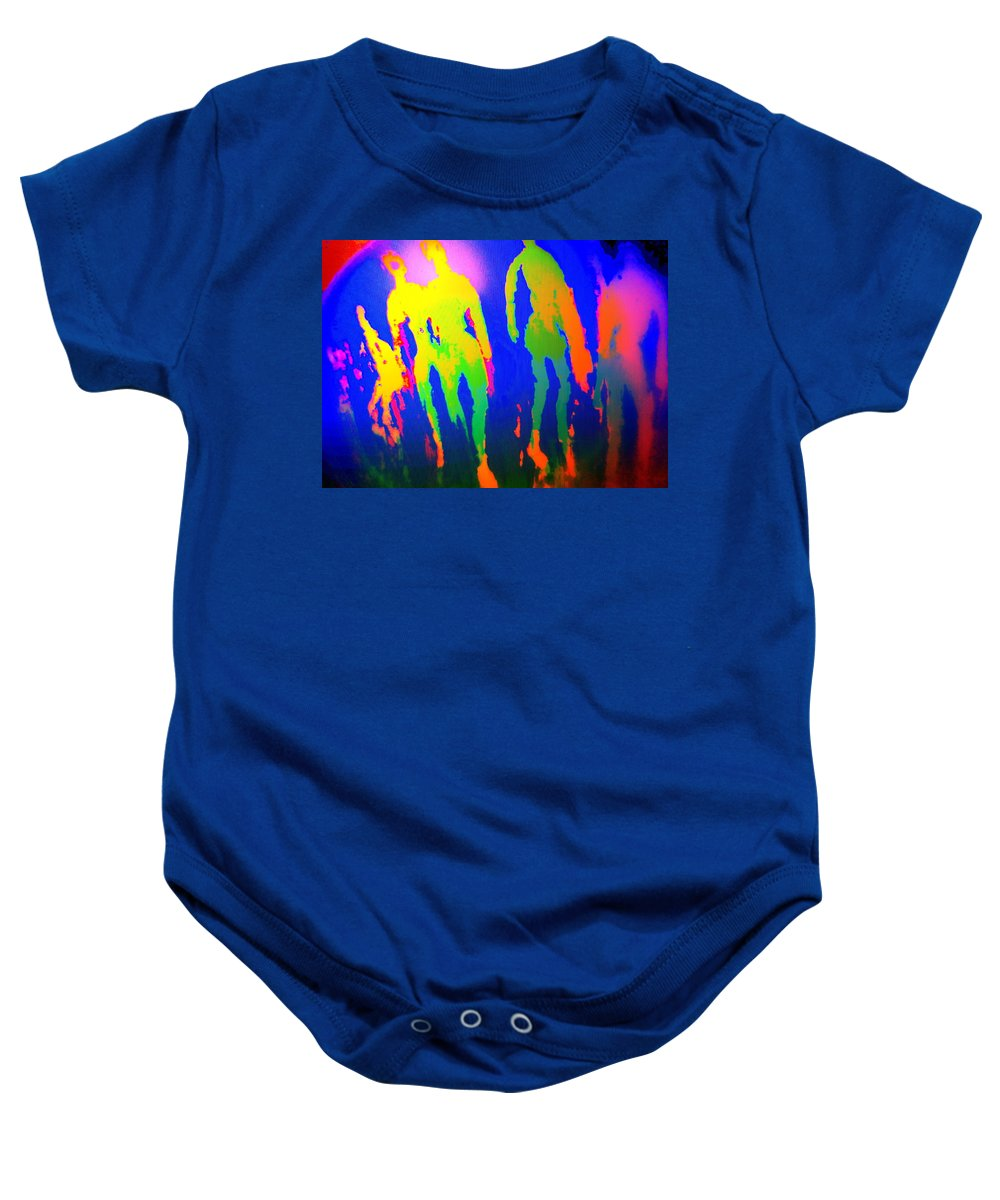 Dog Baby Onesie featuring the photograph You Walked Into The Blue And Left Me Behind by Hilde Widerberg