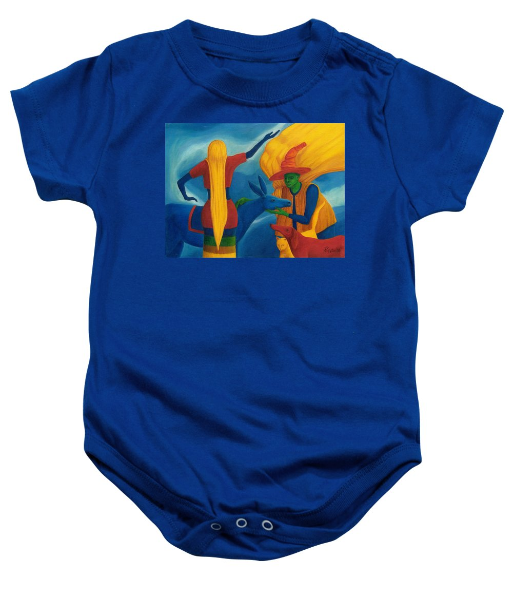 Painting Baby Onesie featuring the painting You Will Move On Your Way. by Andrzej Pietal