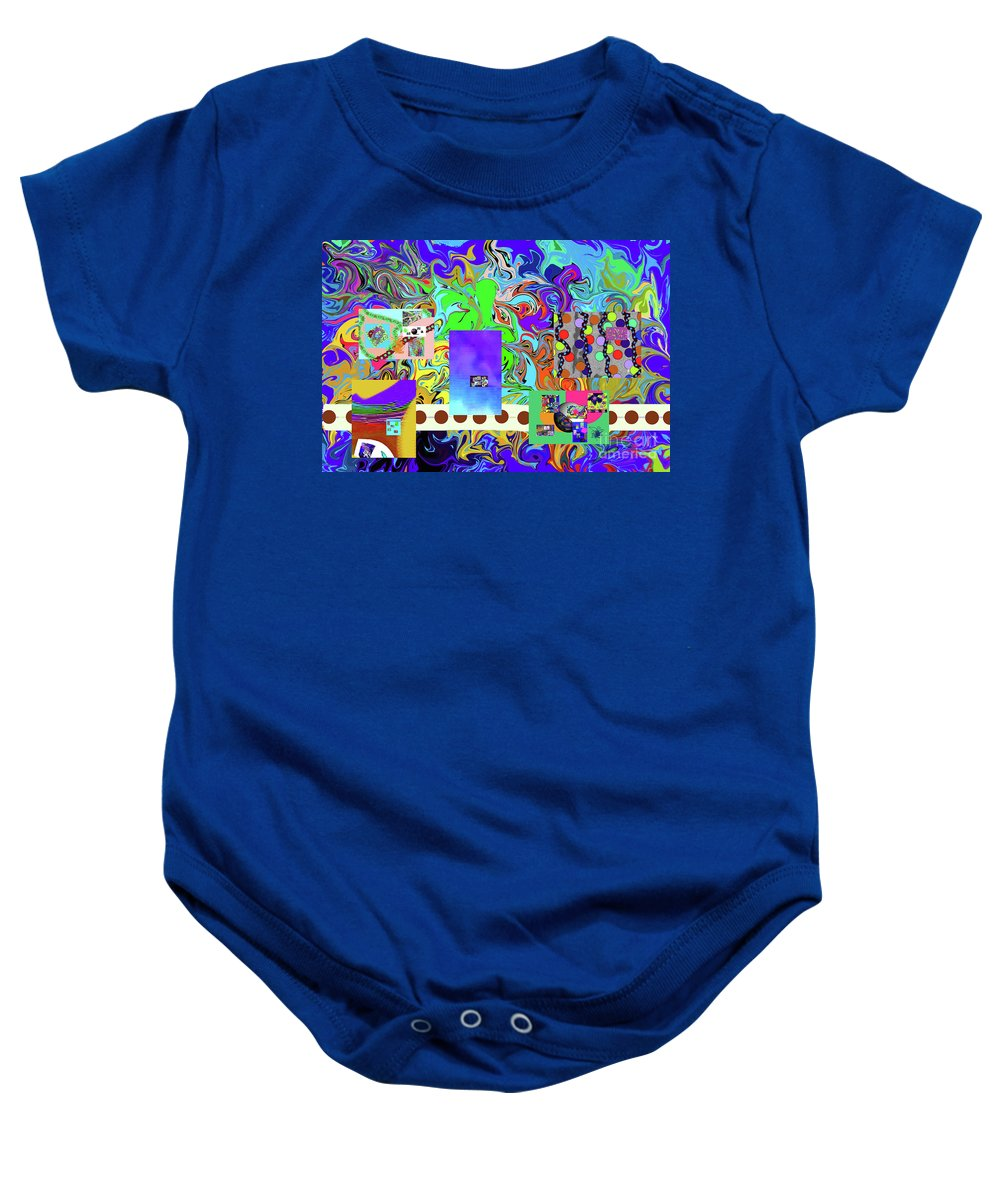 Walter Paul Bebirian Baby Onesie featuring the digital art 9-10-2015babcdefghij by Walter Paul Bebirian