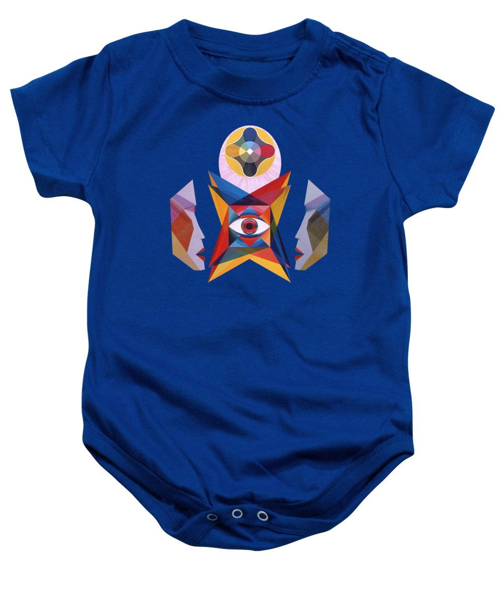Painting Baby Onesie featuring the painting Contemplation by Michael Bellon