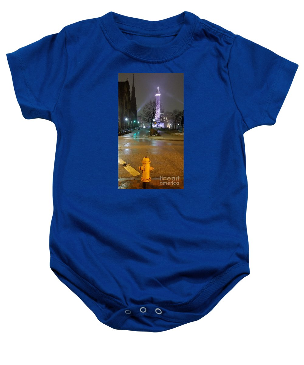 Mount Vernon Baby Onesie featuring the photograph I Want To Be As Tall As You by Marcus Dagan