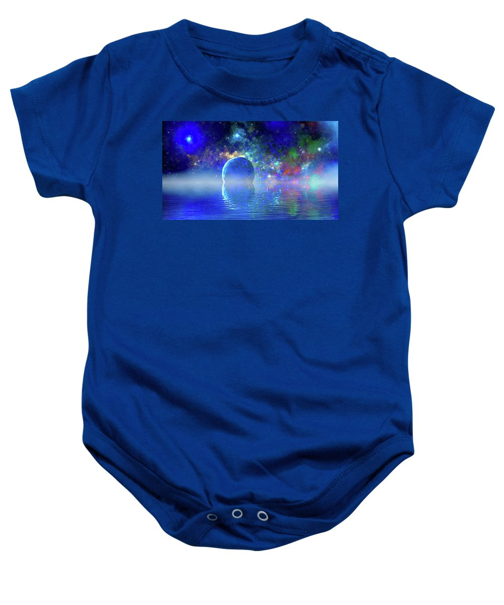 Baby Onesie featuring the digital art Water Planet One by Don White Artdreamer