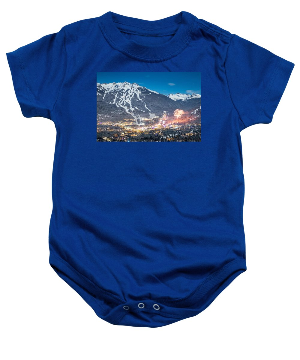 Whistler Baby Onesie featuring the photograph Whistler Nights by Dan Carr