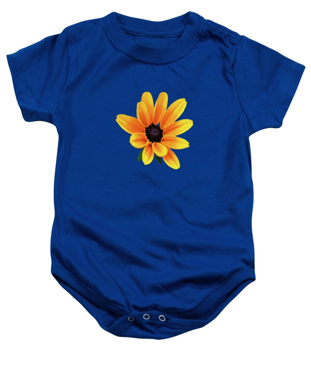 Yellow Flowers Baby Onesie featuring the photograph Yellow Flower Black Eyed Susan by Christina Rollo