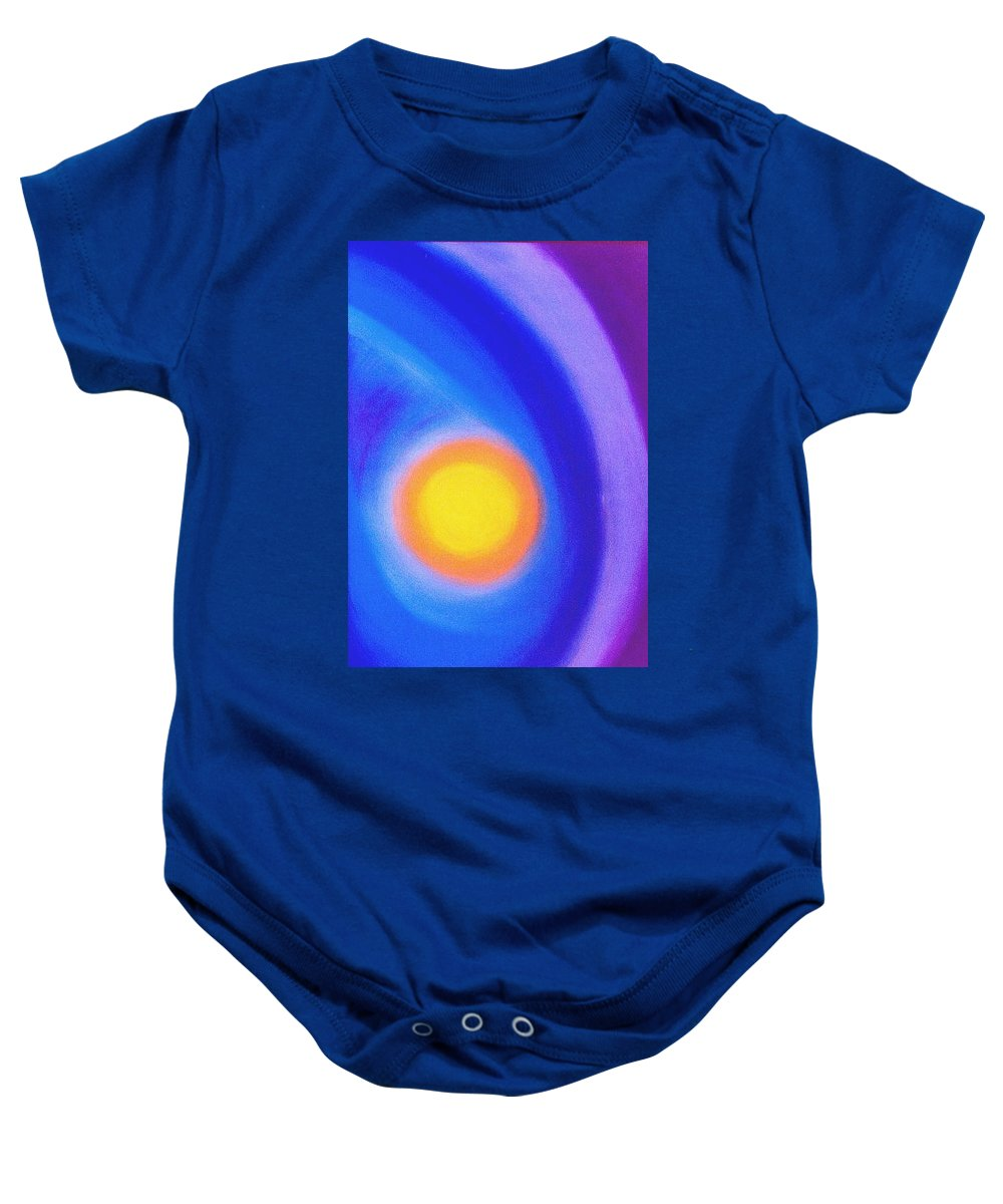 Sun Baby Onesie featuring the painting The Sun by Micah Guenther