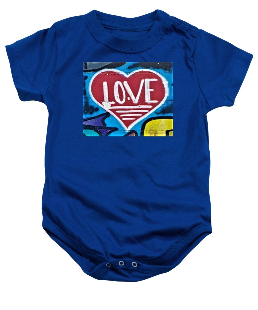 Love Baby Onesie featuring the photograph Urban Love Heart by Rob Hans