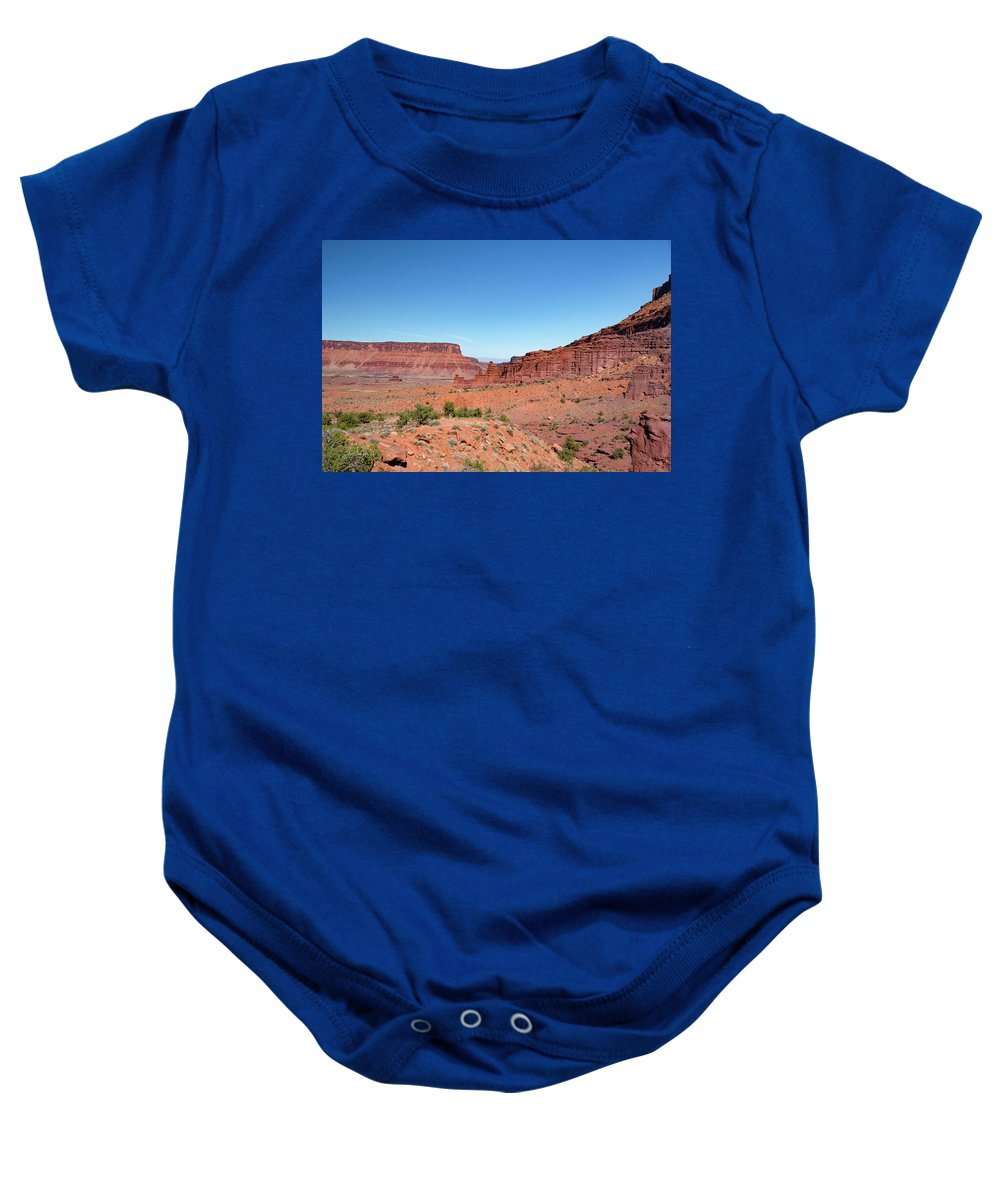 Fisher Towers Baby Onesie featuring the photograph Wild Utah Landscape by Jim Thompson