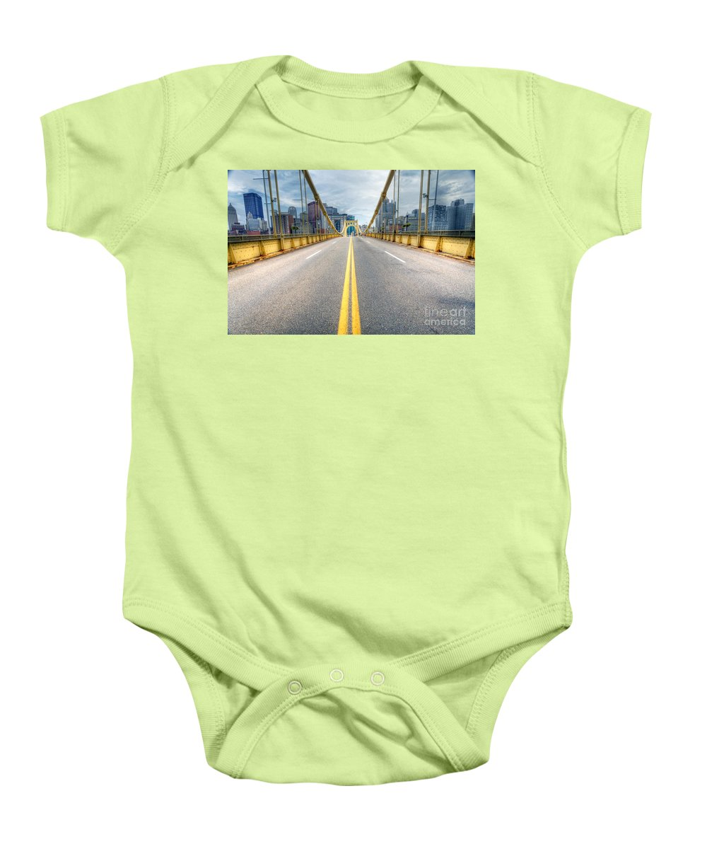 Pittsburgh Baby Onesie featuring the photograph 0306 Pittsburgh 9 by Steve Sturgill