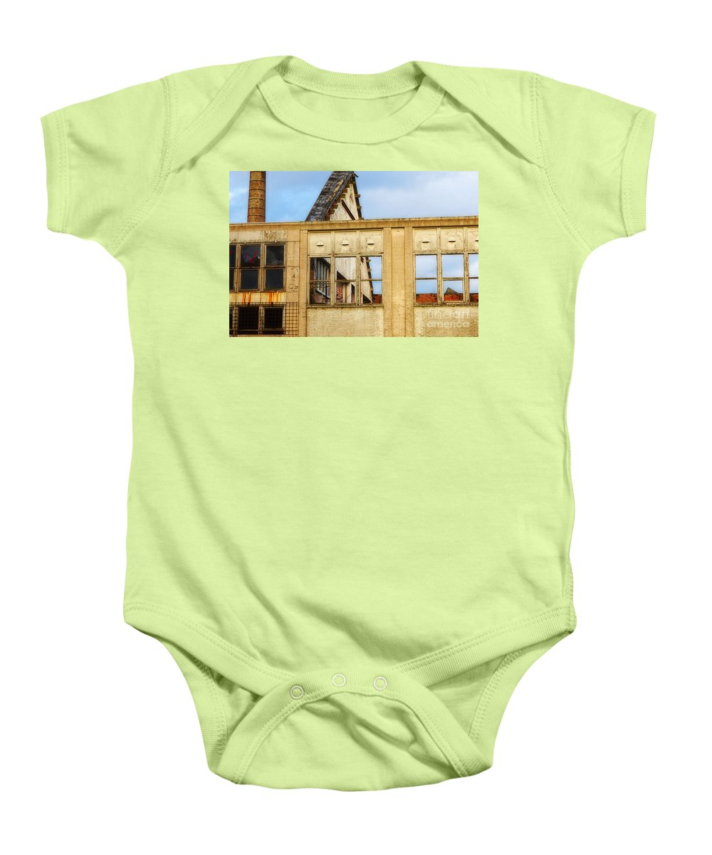 Ancient Baby Onesie featuring the photograph Industrial Building by Nick Biemans