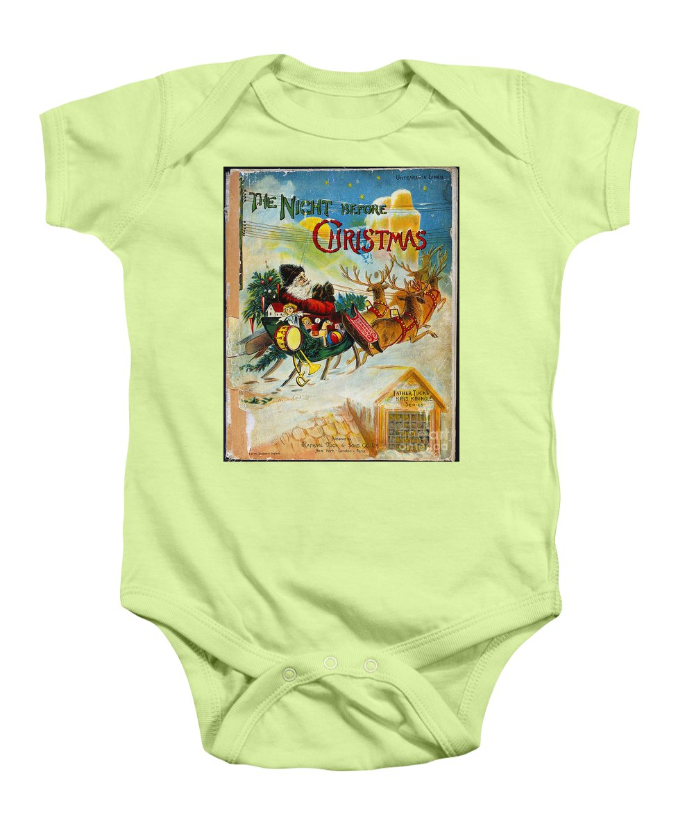 19th Century Baby Onesie featuring the photograph Night Before Christmas by Granger