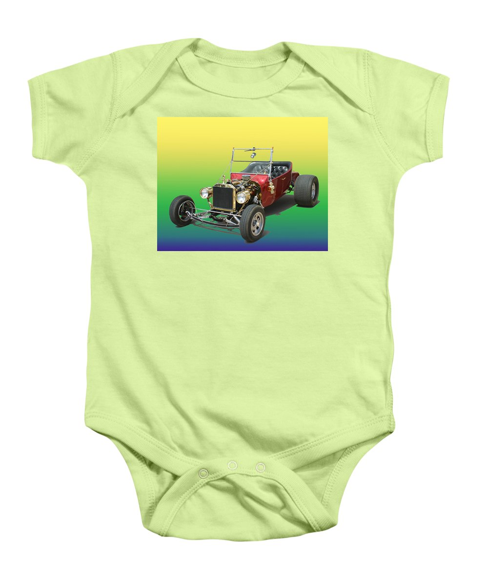 Ford Pinto Powered T Bucket Baby Onesie featuring the photograph 1923 Ford T Bucket by Jack Pumphrey