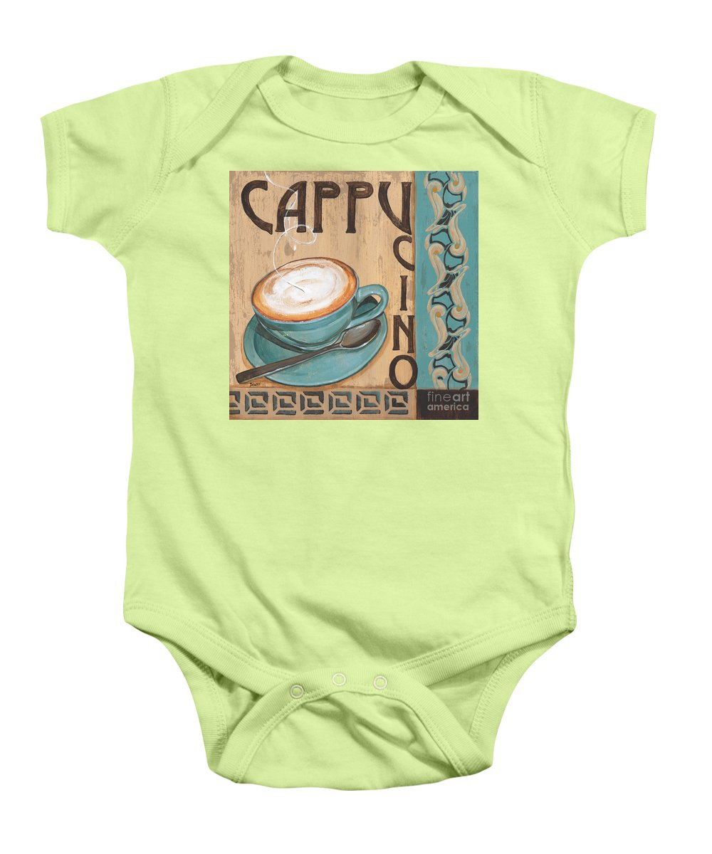 Food Baby Onesie featuring the painting Cafe Nouveau 1 by Debbie DeWitt