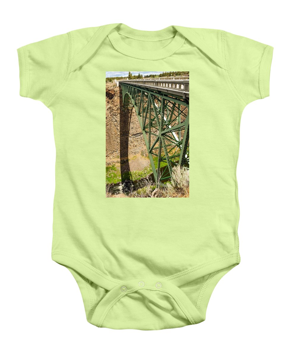 Bridge Baby Onesie featuring the photograph Abandoned Highway Vertical by Jess Kraft