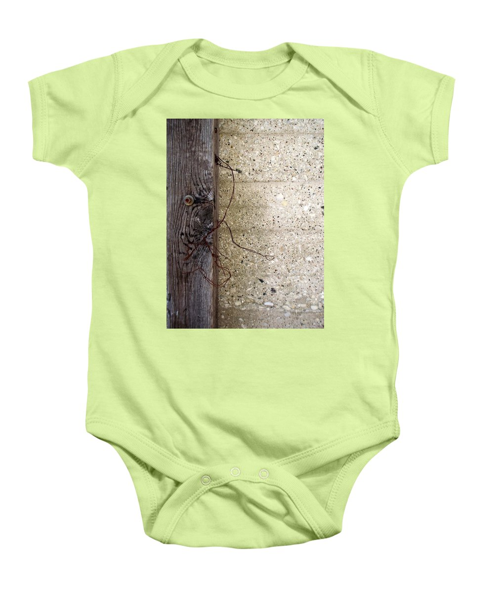 Industrial. Urban Baby Onesie featuring the photograph Abstract Concrete 11 by Anita Burgermeister