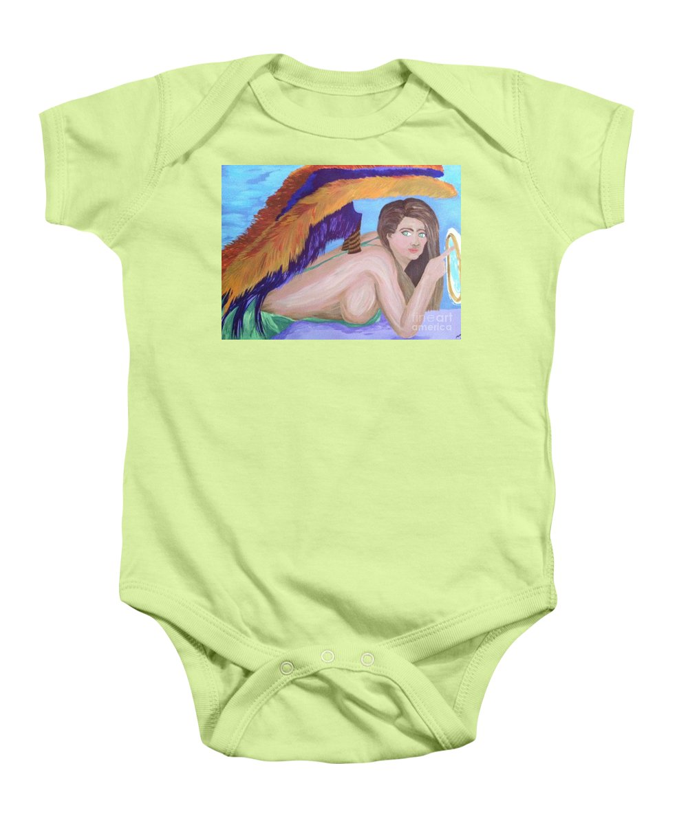 Aura Baby Onesie featuring the painting Angel Of Death by Melissa Darnell Glowacki