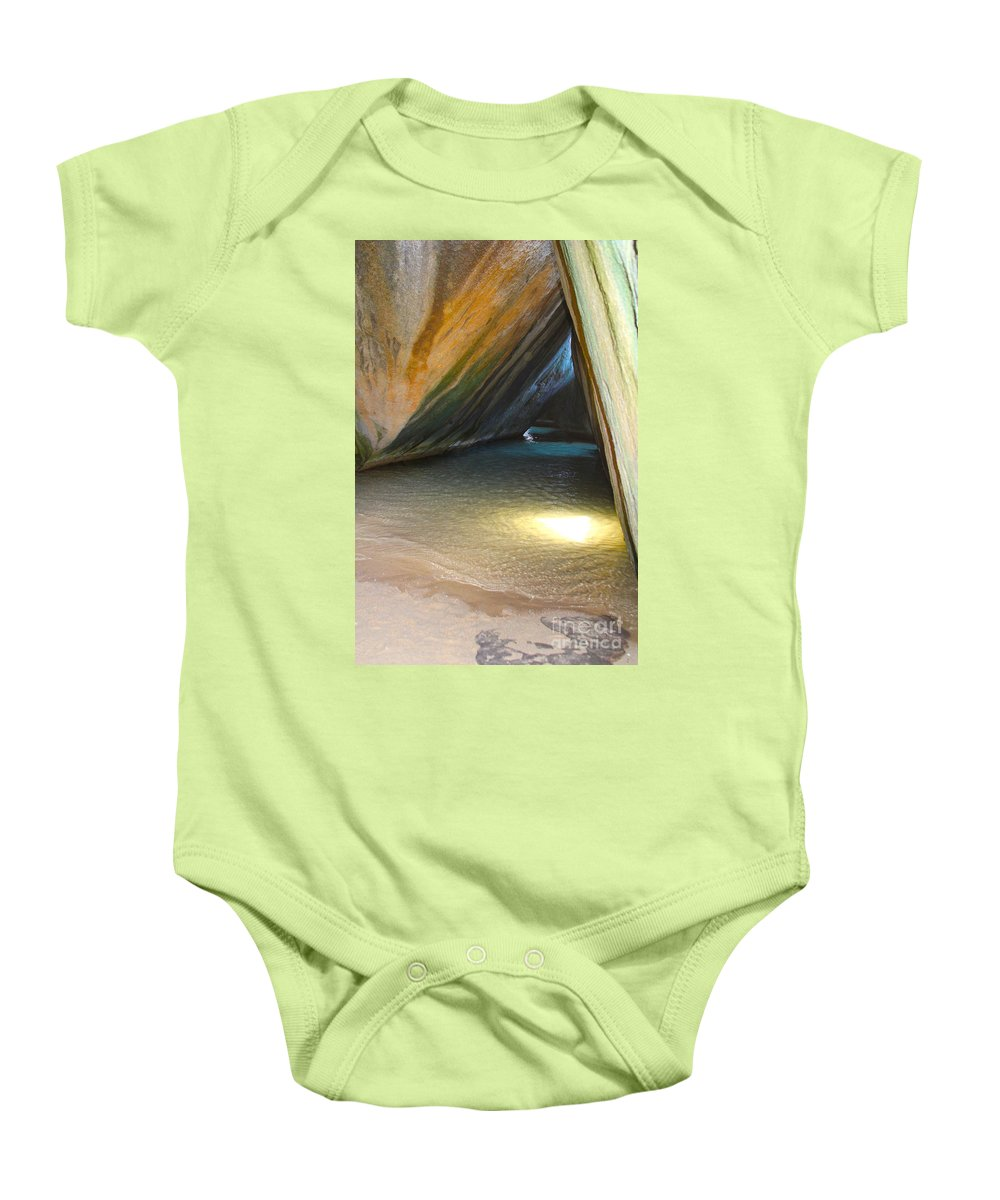 Baths Baby Onesie featuring the photograph Bath Cave by Carey Chen