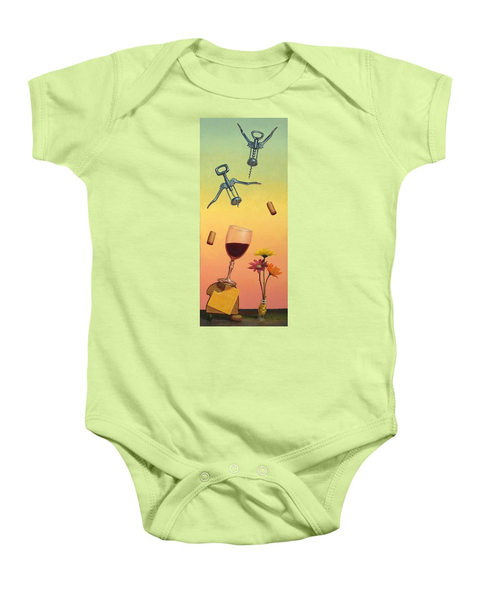 Still-life Baby Onesie featuring the painting Body And Soul by James W Johnson