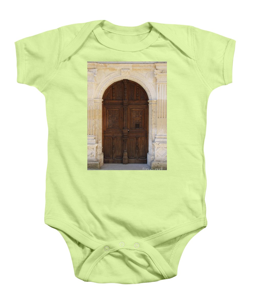 Castle Baby Onesie featuring the photograph Castledoor by Christiane Schulze Art And Photography