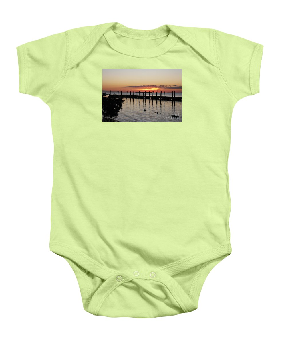 Sunset Baby Onesie featuring the photograph Charming Eveninglight Over Key Largo by Christiane Schulze Art And Photography