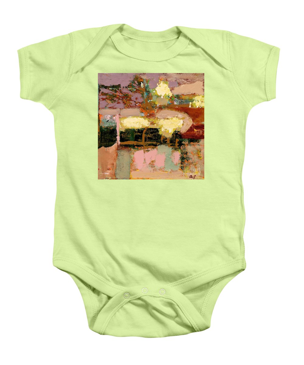 Landscape Baby Onesie featuring the painting Chopped Liver by Allan P Friedlander