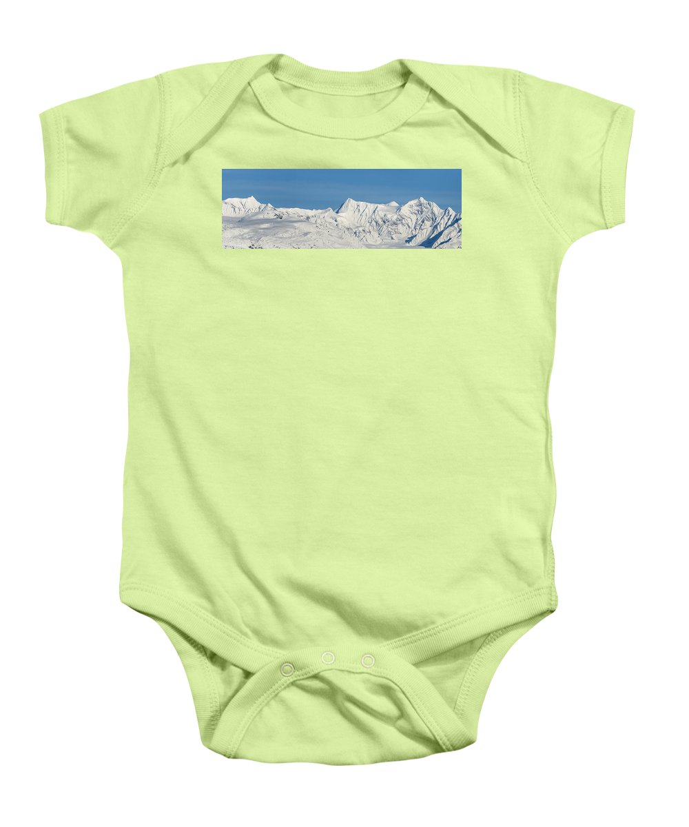 Glacier Baby Onesie featuring the photograph Chugach Range by Ted Raynor
