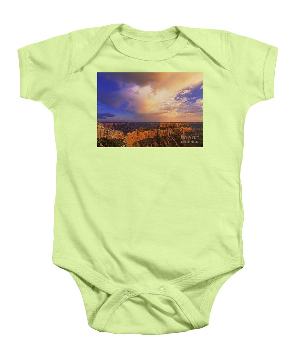 Grand Canyon Baby Onesie featuring the photograph Clearing Storm Cape Royal North Rim Grand Canyon Np Arizona by Dave Welling